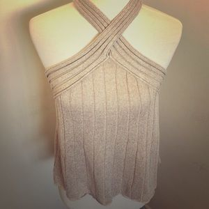 Sweater Crisscross Tank